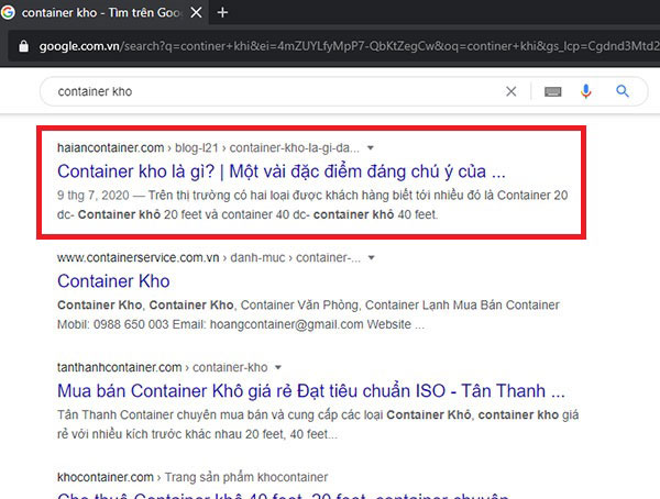 seo web container